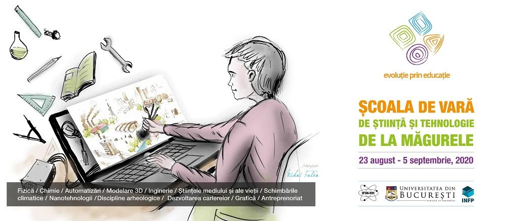 Școala de Vară de Știință și Tehnologie de la Măgurele –  o provocare în lumea virtuală pentru elevi și profesori