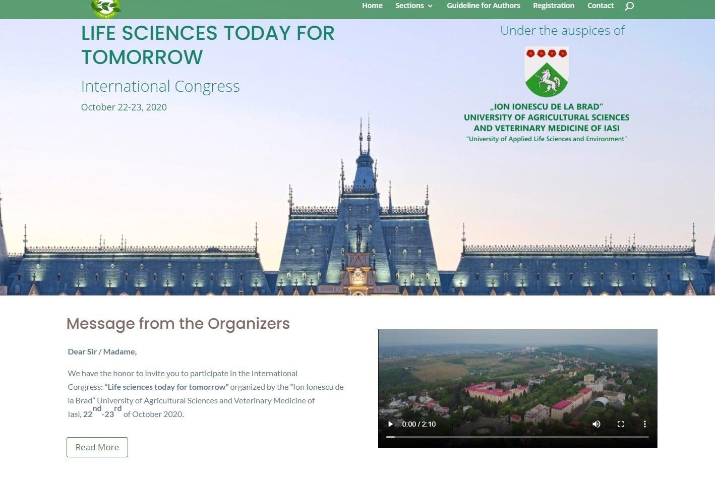 Teme de actualitate pe agenda europeană vor fi discutate la Congresul USAMV Iași