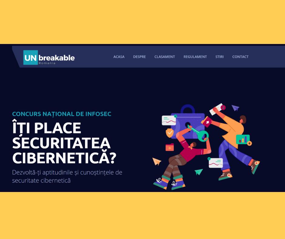 Studenți ai Facultății de Matematică și Informatică din cadrul UOC, participanți în cadrul concursului național de securitate cibernetică UNbreakable România