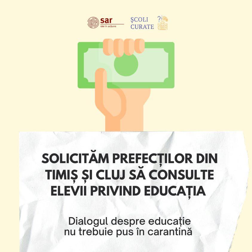 """""""Şcoli curate"""" trage un semnal de alarmă în privinţa problemelor unităţilor de învăţământ din judeţul Cluj"""