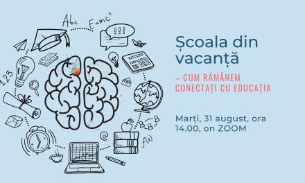 Comunitatea OSC – EduManager: Școala din vacanță – cum rămânem conectați cu educația