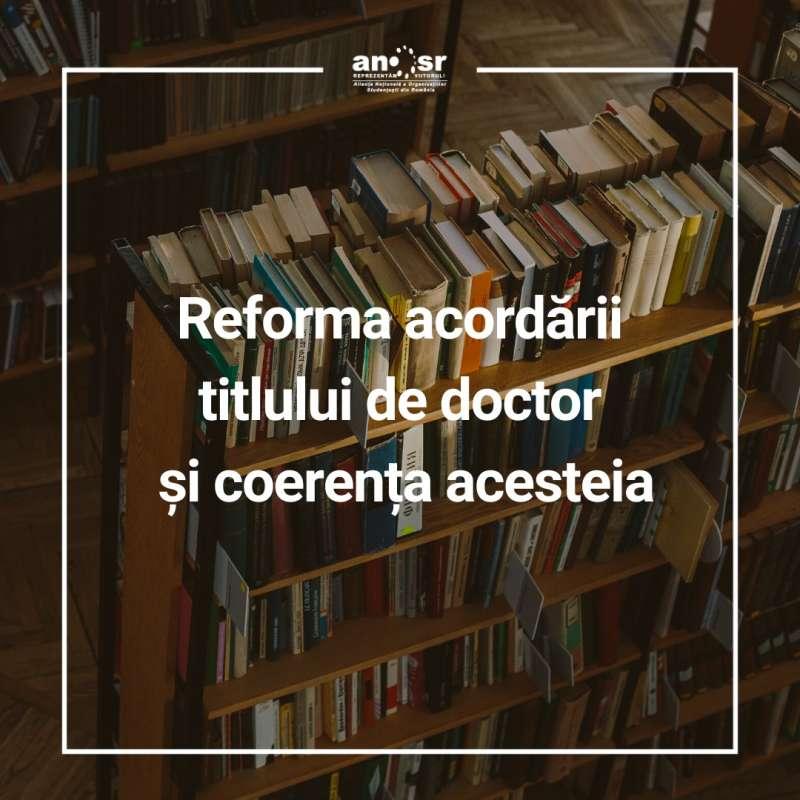 ANOSR: O dizolvare completă a CNATDCU nu îşi regăseşte raţionamentul în sistemul educaţional românesc