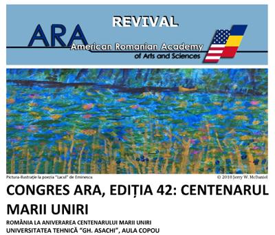 Congresul Anual al Academiei Româno-Americană de Arte și Științe: 26 – 29 august, Iași