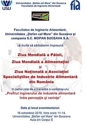 """Ziua Mondială a Pâinii și Ziua Internațională a Alimentației, la Universitatea """"Ștefan cel Mare"""" din Suceava"""