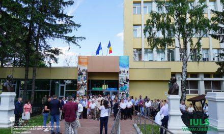 Dezvelire de busturi pe Aleea Personalităților la USV Iași