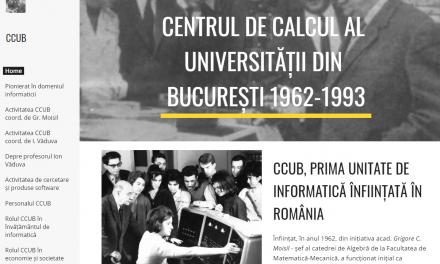 Au devenit funcționale site-ul CCUB – prima unitate de informatică înființată în România și Biblioteca digitală CCUB