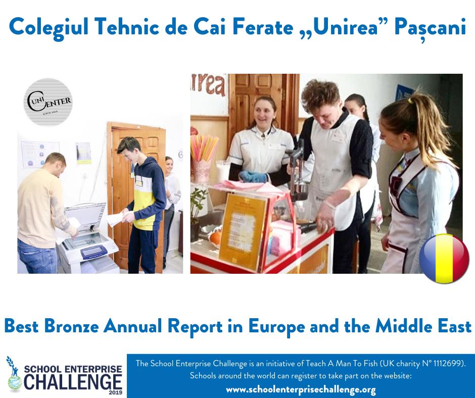 """Colegiul """"Unirea"""" din Pașcani câștigă Concursul Internațional SCHOOL BUSINESS"""