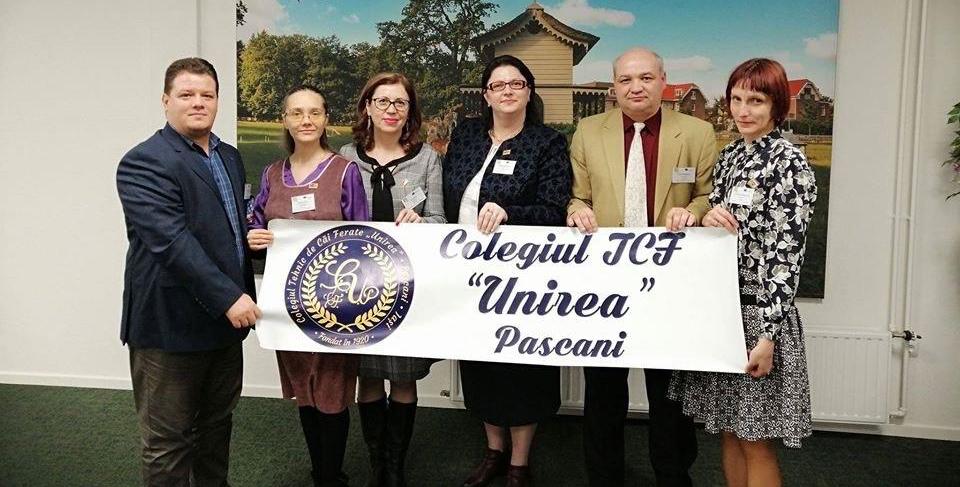 """Luna noiembrie – sub semnul traseelor educaționale europene la Colegiul Tehnic C.F. """"Unirea"""" din Pașcani"""