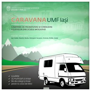 Caravana UMF Iași începe campania de promovare și consiliere a elevilor din liceele Moldovei