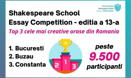 Shakespeare School Essay Competition, ediția #13: Top 3 cele mai creative orașe din România