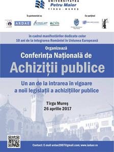"""Universitatea """"Petru Maior"""" din Tîrgu-Mureş  găzduiește Conferința Națională de Achiziții Publice"""