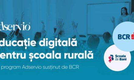 """Adservio și Școala de Bani lansează programul """"Educație digitală pentru școala rurală"""""""