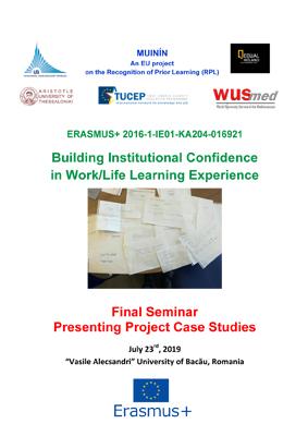 """Eveniment de închidere a unui nou proiect ERASMUS+ la Universitatea """"Vasile Alecsandri"""" dim Bacău"""