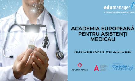COMUNITATEA OSC – EDUMANAGER: Webinarul lunii mai este dedicat inovațiilor din domeniul educației medicale