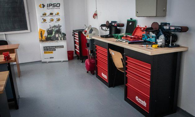 IPSO Agricultură și Narada au reutilat atelierul de mecanică al unui colegiu tehnologic din Roman
