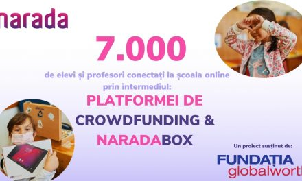Narada, susținută de Fundația Globalworth, a conectat 7.000 de copii și profesori la învățământul online