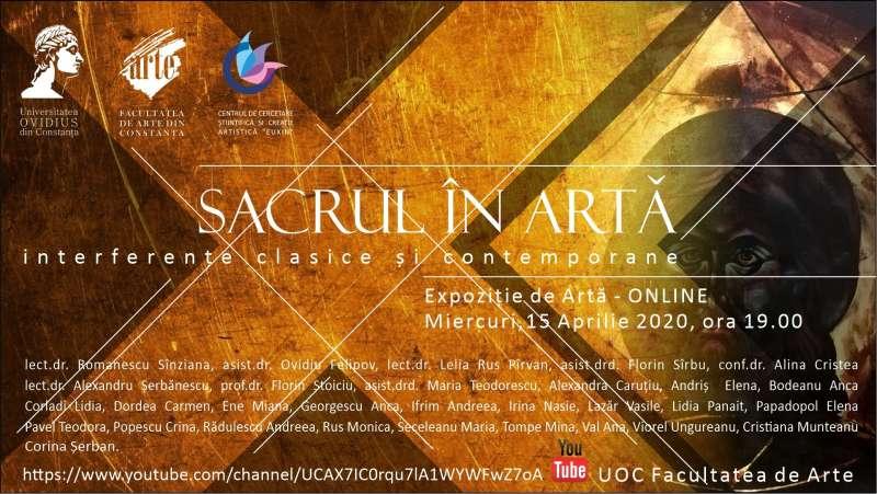 """Vernisaj online al unei expoziţii de artă sacră, prezentat înaintea Paştelui de studenţi ai Universităţii """"Ovidius"""" din Constanţa"""