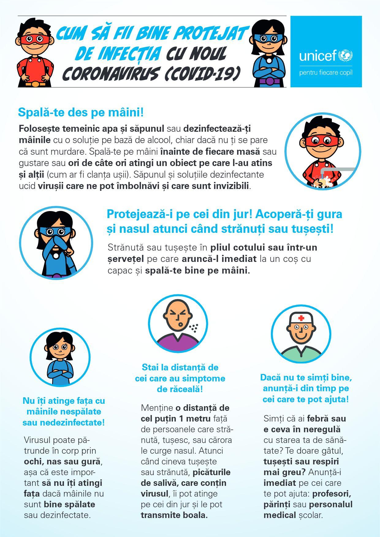FICR, UNICEF și OMS au emis recomandări privind protecția copiilor și sprijinirea activităților școlare în siguranță