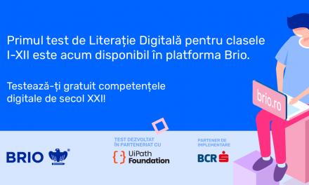 UiPath Foundation și Brio pun la dispoziția publicului primul test gratuit de literație digitală