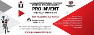 """Zeci de produse inovatoare vor fi prezentate de studenții USAMV Cluj-Napoca la Salonul """"Pro Invent 2018"""""""