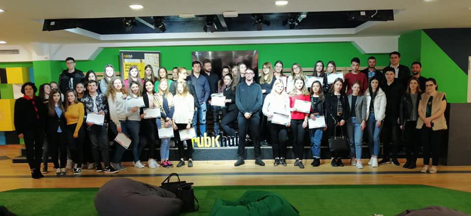 A doua sesiune de lucru din cadrul proiectului educațional de antreprenoriat RubikEDU