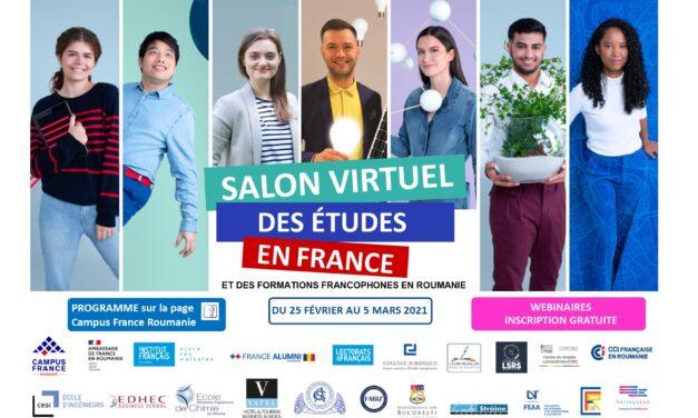 Salonul virtual al studiilor în Franța și al formărilor universitare în limba franceză din România va avea loc între 25 februarie și 5 martie