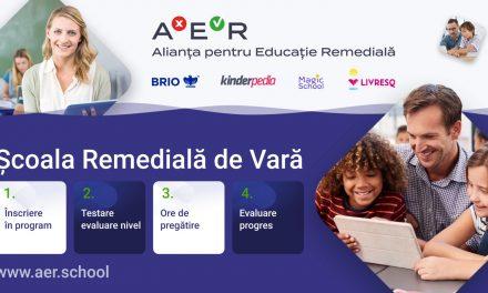 """Alianța pentru Educație Remedială lansează programul """"Școala Remedială de Vară"""""""