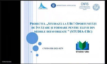 """Workshop online """"Studiază la UBc !"""" în cadrul unui proiect FDI implementat de Universitatea """"Vasile Alecsandri"""" din Bacău"""