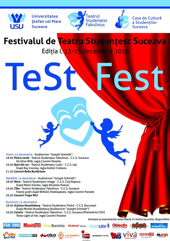 La Suceava are loc prima ediție a Festivalului de Teatru Studențesc TeSt Fest