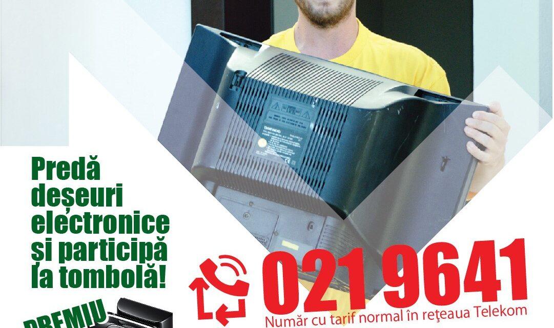 Ai un echipament electric stricat? Solicită preluarea GRATUITĂ la 021 9641 și poți câștiga un aspirator robot!