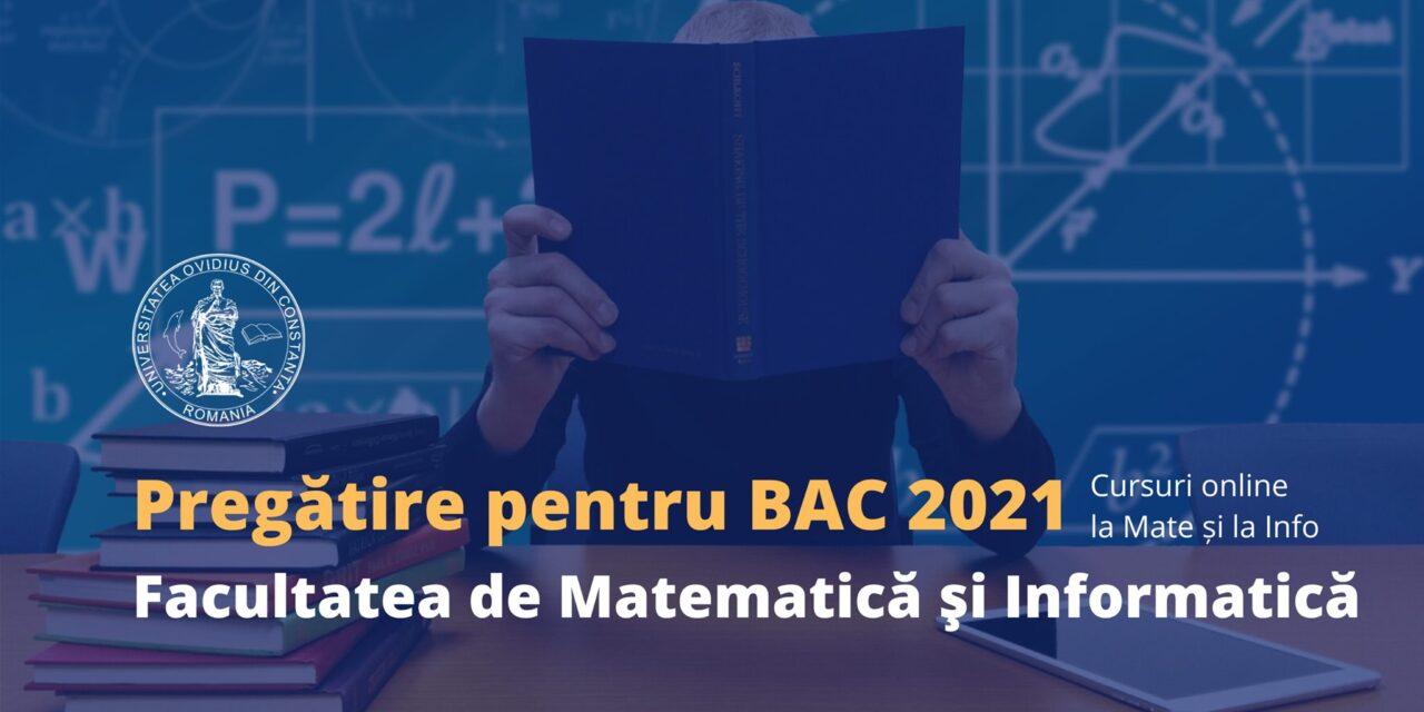 Şedinţe gratuite de pregătire online la Matematică şi Informatică pentru Bacalaureat 2021, organizate de Universitatea Ovidius