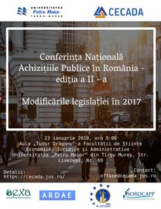 """Universitatea """"Petru Maior"""" din Tîrgu Mureș organizează Conferinţa Națională """"Achizițiile publice în România"""", ediția a II-a"""