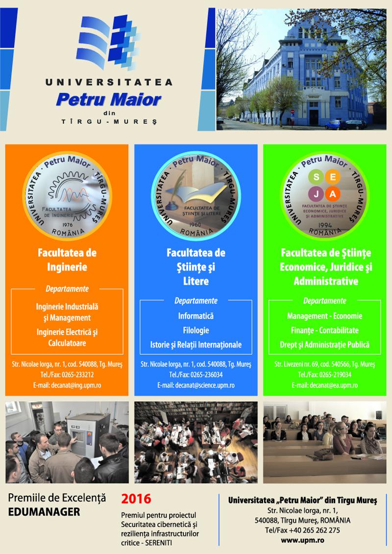 "UNIVERSITATEA ""PETRU MAIOR"" TÂRGU-MUREȘ – O universitate pentru comunitate"
