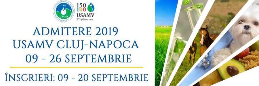 Admitere la USAMV Cluj-Napoca, sesiunea de toamnă: 552 locuri la nivel de licență, din care 196 bugetate
