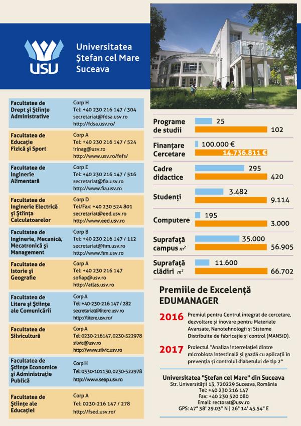 """Universitatea """"Ştefan cel Mare"""" din Suceava: VISEAZĂ – CREEAZĂ – INOVEAZĂ"""