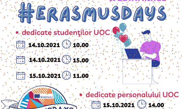 Universitatea Ovidius din Constanța celebrează Zilele programului Erasmus Plus