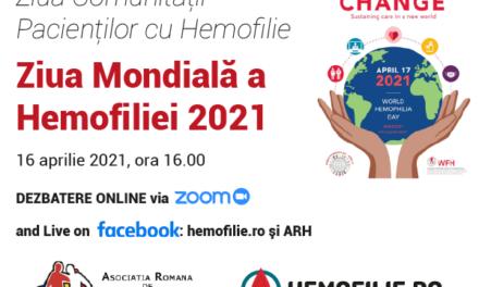 Află poveștile campionilor comunităţii internaţionale de hemofilie la întâlnirea de vineri, 16 aprilie