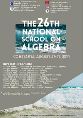 """A XXVI-a ediție a Școlii Naționale de Algebră, la Universitatea """"Ovidius"""" din Constanța"""