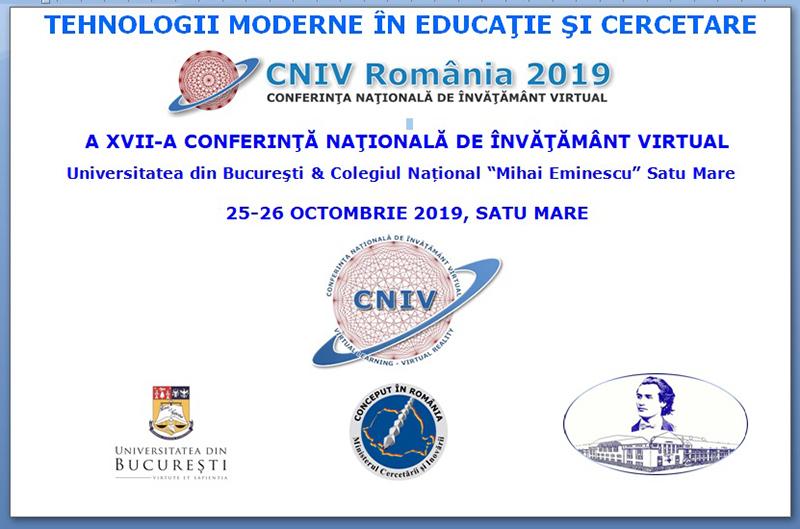 """Conferința de e-Learning CNIV 2019 dedicată Centenarului Colegiului Național """"Mihai Eminescu"""" din Satu Mare"""