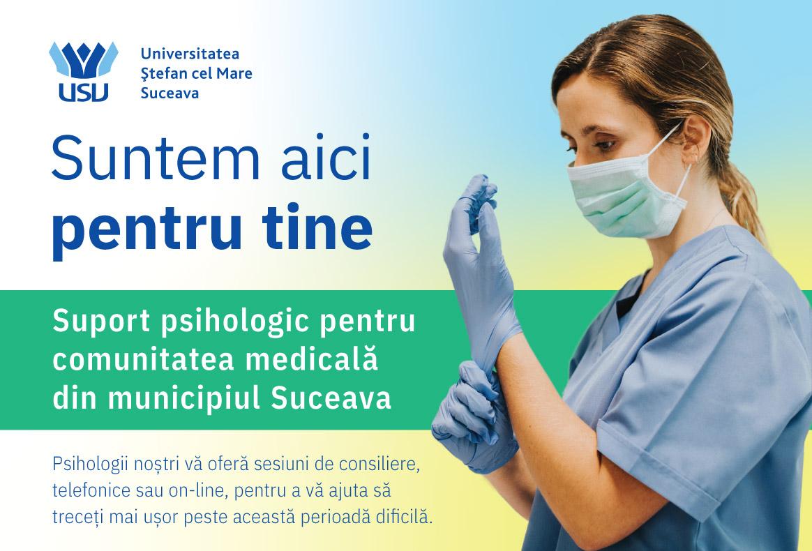 USV Suceava a deschis Centrul de sprijin emoţional pentru cadrele medicale afectate de pandemia de COVID-19