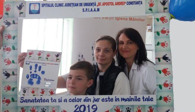 Campanie despre importanţa spălării corecte a mâinilor, derulată la SCJU Constanţa