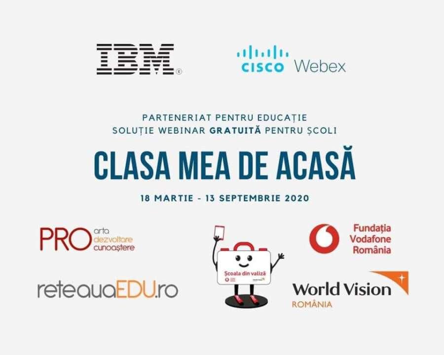 """IBM România invită școlile să se înscrie în inițiativa """"Clasa mea de acasă"""""""