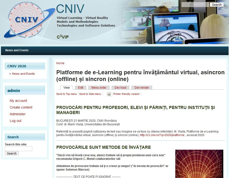 Platforme de e-Learning pentru învățământul virtual, offline și online