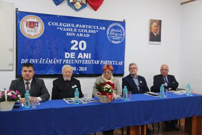 """Dublă aniversare la Colegiul Particular """"Vasile Goldiş"""" din Arad"""