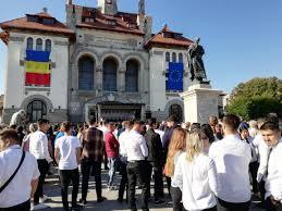 Peste o mie de studenţi de la şase universităţi constănțene au participat la festivitatea comună de deschidere a noului an de învăţământ
