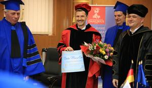 "Prof. univ. dr Stefan C. Schaltegger a devenit Doctor Honoris Causa ale Universtității ""Danubius"""