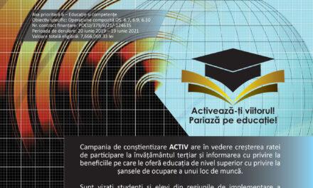 """Universitatea Danubius demarează proiectul """"Antreprenoriat competent în rândul tinerilor – Învățământ inovativ pentru viitor"""""""