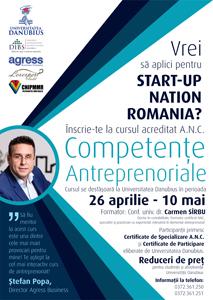 Program de formare – specializare Competențe Antreprenoriale la Universitatea Danubius Galați