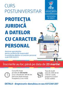 """Nou program de studii postuniversitare la Universitatea """"Danubius"""": Protecția juridică a datelor cu caracter personal"""