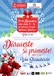"""A doua ediție a evenimentului """"Dăruiește și primește"""", organizat de Universitatea """"Danubius"""" din Galați"""